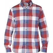 Fj�llr�ven �vik Big Check Shirt L/S Herre, Deep Red