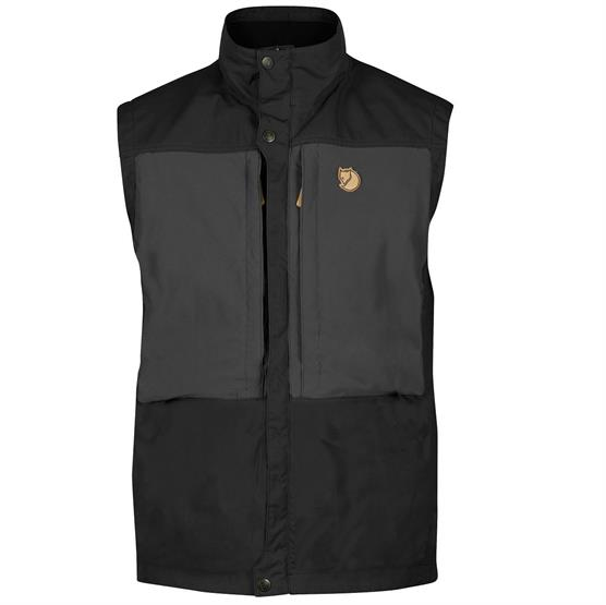 Fjällraven Keb Vest Mens,Black / Dark Grey