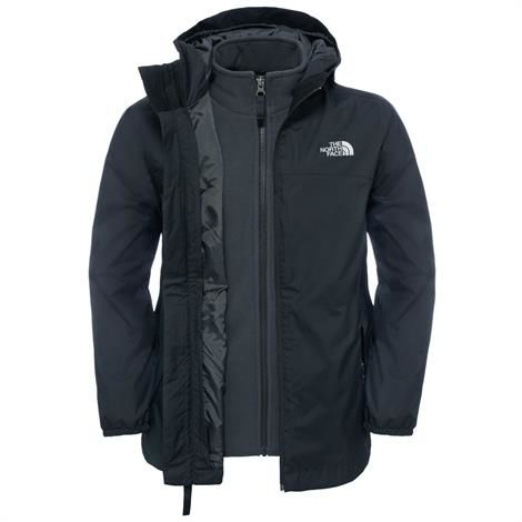 The North Face Boys Elden Rain Triclimate Jacket, Black