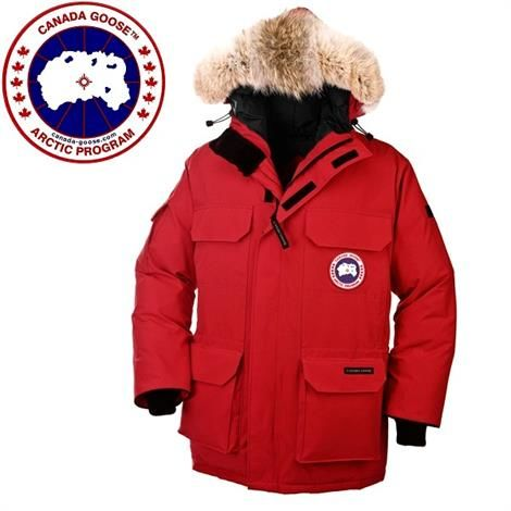 Canada Goose Mens Expedition Parka, Red