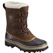 Sorel Caribou Wool Herre, Olive Brown / Dark Ginger
