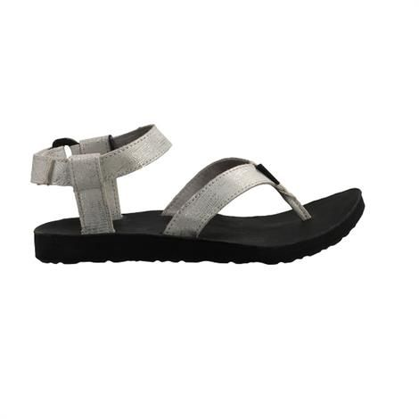 Teva Original Sandal Leather Metallic Dame, Silver