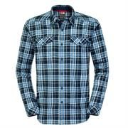 The North Face Mens New L/S Lodge Shirt, Cosmic Blue Plaid