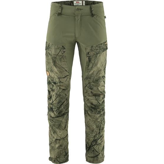 Fjällräven Keb Trousers Mens, Green Camo / Laurel Green