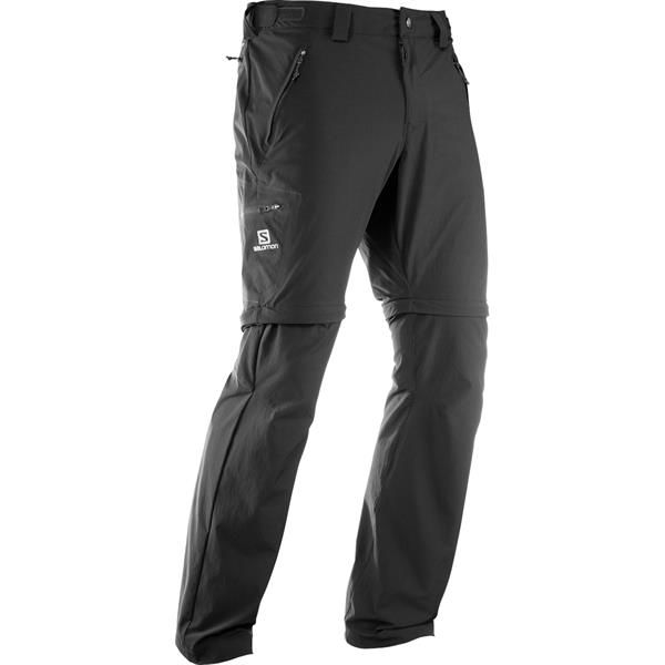 Salomon Wayfarer Straight Zip Pant Mens, Black