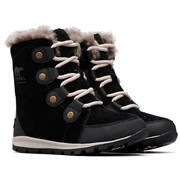 Sorel Whitney Suede Kids, Black / Dark Stone